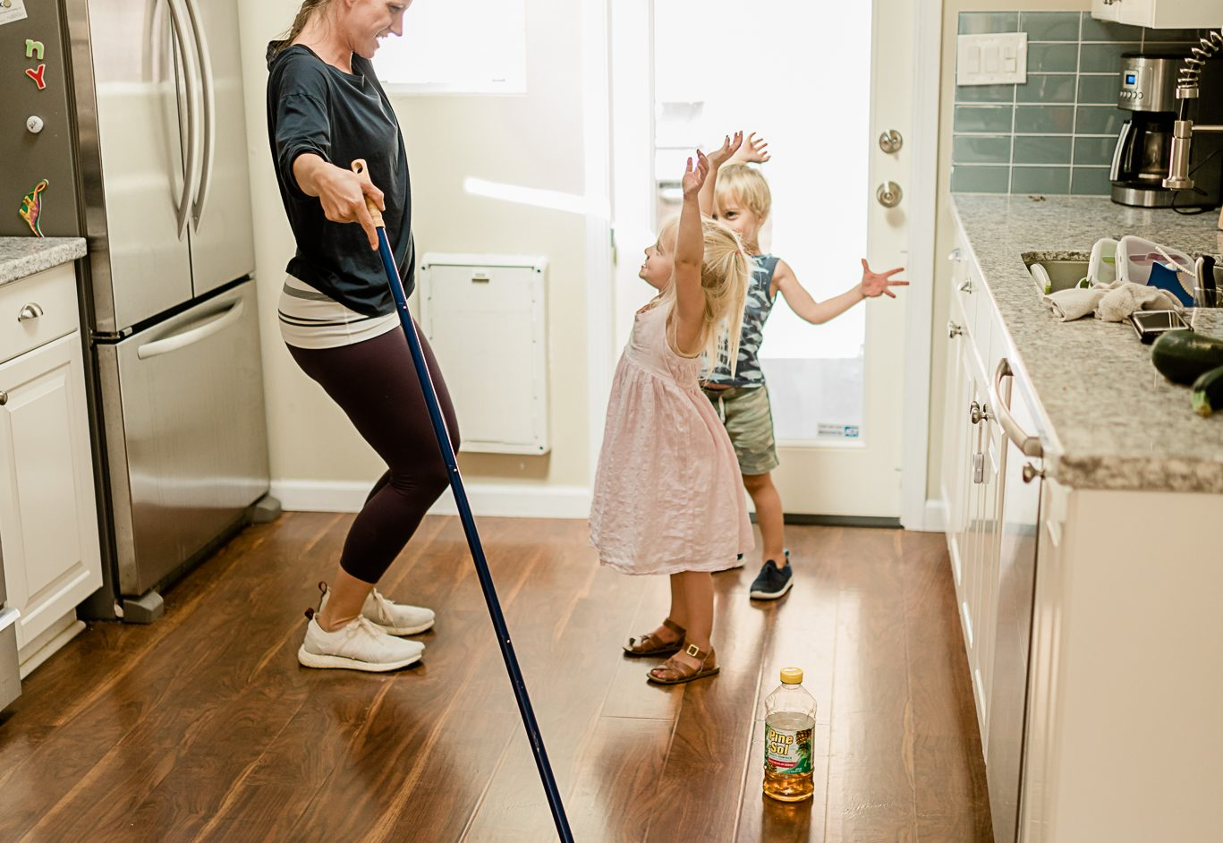 Clean With Pine Sol And Including Kids On Cleaning